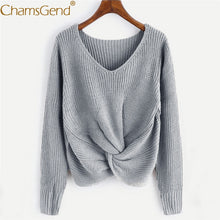 Load image into Gallery viewer, Free Shipping Casual Women V Neck Sweater Pullovers Autumn Winter Women Twisted Jumper Female Knit Sweaters  80920