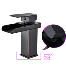 Load image into Gallery viewer, Wholesale And Retail Deck Mount Waterfall Bathroom Faucet Vanity Vessel Sinks Mixer Tap Cold And Hot Water Tap
