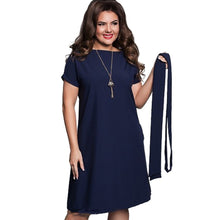 Load image into Gallery viewer, 6xl Sexy Party Plus Size Maxi Straight Solid Dresses with belt Elegant Ladies Women Dress Loose Large Sizes Slim Office Vestidos