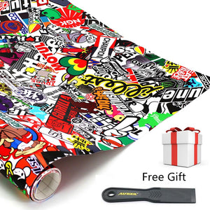 "152cm x 50cm 60""x20"" Car Sticker And Decals JDM Cartoon Graffiti  Car Styling Auto Accessories For Car Motorcycle Bike Laptop"