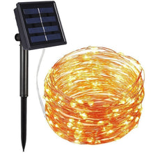Load image into Gallery viewer, 72ft 22M 200 LED Solar Strip Light Home Garden Copper Wire Light String Fairy Outdoor Solar Powered Christmas Party Decor