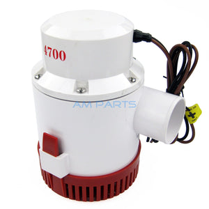 12V 4700 GPH Marine Bilge Pump Boat Water Pump Yacht Submersible Pump