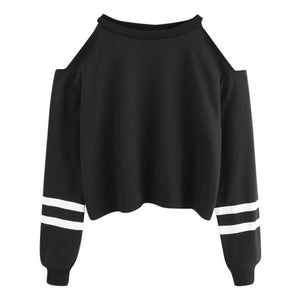 Autumn Sweatshirts For Women Sexy Off Shoulder Long Sleeve Hooded Pullover Sweatshirt Hooded Female Jumper Casual Sportswear Top