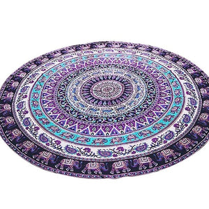 Throw Towel Yoga Mat Decorative Round Beach Towel Indian Mandala Round Elephant Tapestry Wall Hanging Summer Beach New