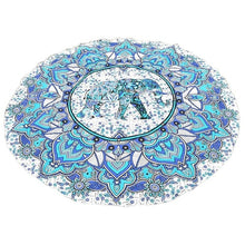 Load image into Gallery viewer, Throw Towel Yoga Mat Decorative Round Beach Towel Indian Mandala Round Elephant Tapestry Wall Hanging Summer Beach New