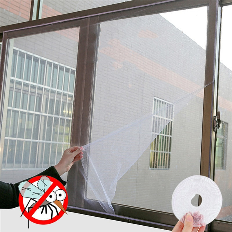 DUSTPROOFVEIL DIY Self-adhesive Anti-mosquito Net Flyscreen Curtain Insect Fly Mosquito Bug Mesh moustiquaire fene Home Supplies