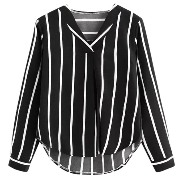 Womens Tops And Blouses Autumn Vintage Long Sleeve Shirt 2018 Women Clothes Striped Korean Ladies Tops Fashion Clothing