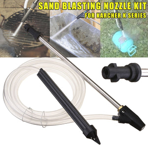 Portable Sand Blaster Wet Blasting Washer Sandblasting Kit For Karcher K Series High Pressure Washers Blasting Pressure Gun