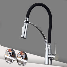 Load image into Gallery viewer, Brushed Nickel Kitchen Sink Faucet Pull Down Swivel Spout Kitchen Sink Tap Deck Mounted Bathroom Hot and Cold Water Mixers
