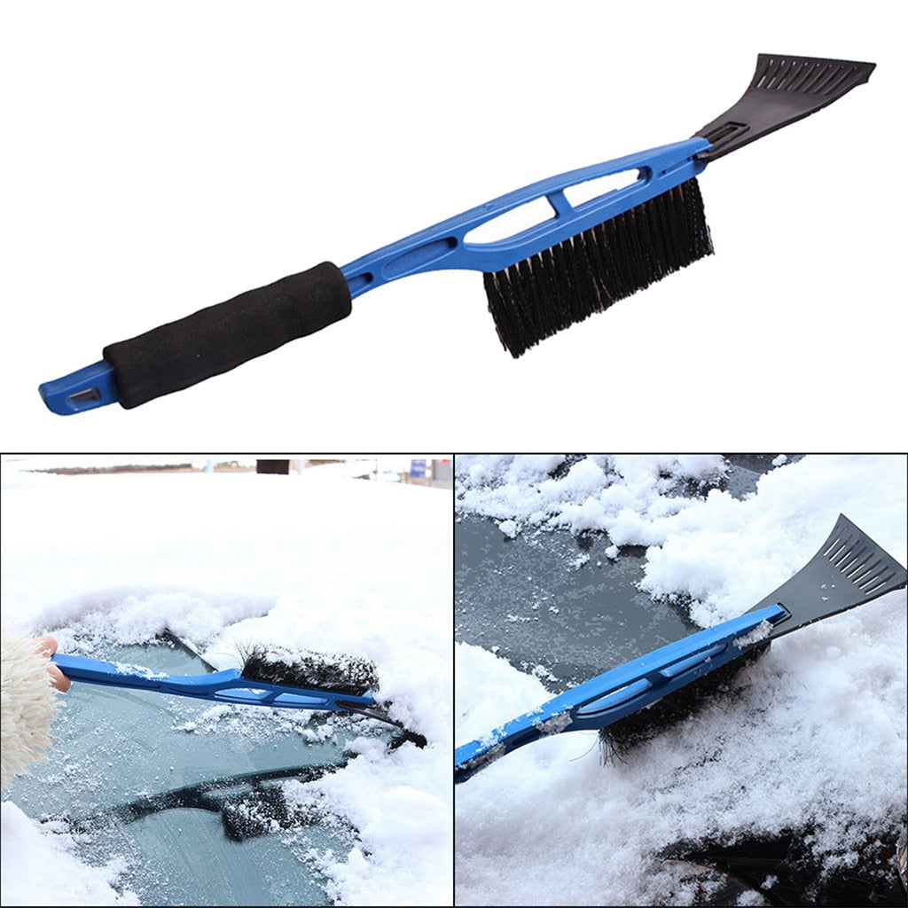 2-in-1 Ice Scraper with Brush For Car Windshield Snow Remove Frost Broom Cleaner #MDJ