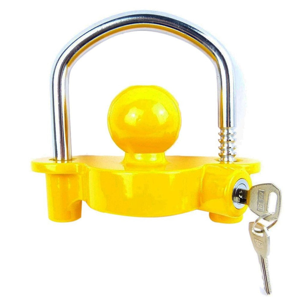 Newest Anti-Theft Hitch Lock Coupling Lock Trailer Parts Tow Ball Caravan Camping Anti Theft Trailer Accessories