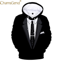 Load image into Gallery viewer, Newly Design Men Women Funny Blazer Suit 3D Print Hoody Sweatshirts Autumn Winter Long Sleeve Pocket Man Plus Size  Blouse 81121