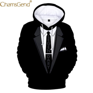 Newly Design Men Women Funny Blazer Suit 3D Print Hoody Sweatshirts Autumn Winter Long Sleeve Pocket Man Plus Size  Blouse 81121