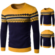 Load image into Gallery viewer, Men's Sweaters Casual Long Sleeve Fashion Sweater Warm Knitting Pullover Autumn Winter Tops Blouse Sueter Hombre de lana 0730