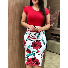 Load image into Gallery viewer, Women Summer Bodycon Dress 3XL Sexy Vintage Elegant Floral Pencil Dresses Party Dress Vestidos Plus Sizes