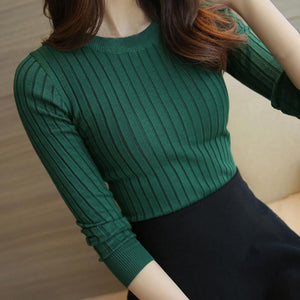 2018 Autumn Winter Female Solid Sweater High Elastic Turtleneck Fashion Sweater Women Slim Sexy Knitted Pullovers 5 Colors