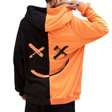Load image into Gallery viewer, Men Sweatshirt Hoodie Men Teen's Contrast Color Smily Face Fashion Print Hoodies Sweatshirt Jacket Pullovers 2018 Autumn Winter