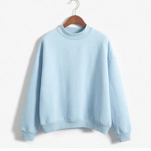 LASPERAL Wholesale Cute Women Hoodies Pullover 9 colors 2019 Autumn Coat Winter Loose Fleece Thick Knit Sweatshirt Female S-3XL