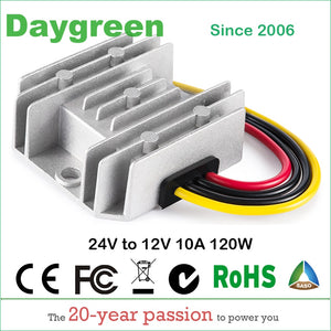24V to 12V 5A 10A 120W DC DC Converter Step Down Daygreen 1A 2A 3A 6A 8A Voltage Regulator Newest Type CE, 10,000pcs in Stock