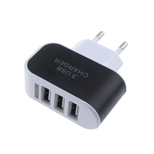 CARPRIE Fashion 3.1A Triple USB Port Wall Home Travel AC Charger Adapter For Samsung For Apple EU Plug 180208 drop shipping