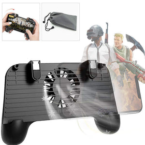 FPS Mobile Game Controller For PUBG 4in1 Gamepad Shoot And Aim Trigger Phone Cooling Better game Prevent cell phone fever