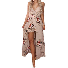 Load image into Gallery viewer, Free Ostrich Elegant Sexy Women Summer Sleeveless Flower Playsuit Beach Trousers ,jumpsuit women short playsuit women D1335