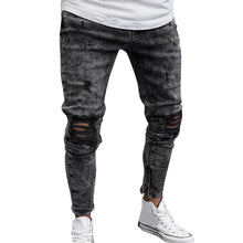 Load image into Gallery viewer, FeiTong Jeans Men Top Brand Men Clothes 2019 Skinny Stretch Denim Pants Distressed Ripped Freyed Slim Fit Jeans Trousers Of Male