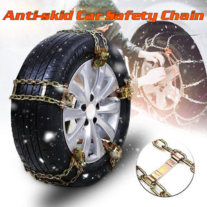 1PC S/M/L Wear-resistant Steel Car Snow Chains Balance Design Anti-skid Chain For Ice/Snow/Mud Road Safe For Driving