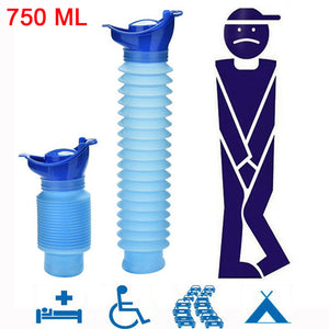 High Quality 750ML Portable Adult Urinal Outdoor Camping Travel Urine Car Urination Pee Soft Toilet Urine Help Men Women Toilet