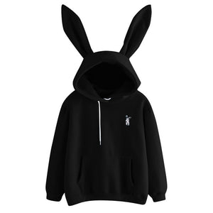 Women's 2019 Hot Sale Cute Bunny Girl Hoodie Casual cute longsleeve Sweatshirt Pullover with Ears S-XL ladies top Sweatershirt
