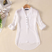 Load image into Gallery viewer, Free Ostrich Chiffon Blouse 2019 Women Clothing Long Sleeve Autumn Brand Shirt Casual Loose Oversized Top Chemise Femme C0940