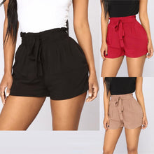 Load image into Gallery viewer, Womail Women shorts Retro Casual Fit Elastic Waist Pocket Shorts High Waist String short Solid Loose dropship j21