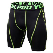 Load image into Gallery viewer, HEFLASHOR Brand New Compression Shorts Men Casual Bodybuilding Quick Dry Skinny Bottoms Patchwork Sportswear