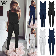 Load image into Gallery viewer, Womail bodysuit Women Summer Casual Bandage Evening Party Playsuit Ladies Romper Long Jumpsuit fashion new 2019  M1