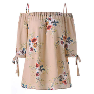 XL-5XL Plus Size Fashion Women Strap Chiffon Cold Shoulder Lady Loose Shirt Tops Casual Short Sleeve Blouse Summer Female Blusa