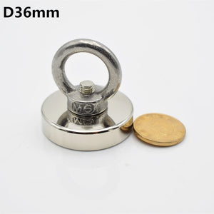 1pc Strong Neodymium magnet super powerful search magnets hook power magnetic material fishing salvage permanent NdfeB holder