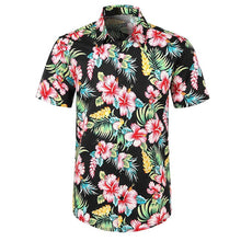 Load image into Gallery viewer, floral shirt Men Casual Printed Button Down Short Sleeve Shirt Hawaiian shirt Top Blouse playeras de hombre Male clothing ropa