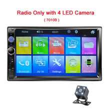 "Load image into Gallery viewer, Podofo 2 din Car Radio 7"" HD Touch Screen Mirrorlink Auto Radio Bluetooth Car Stereo Multimedia MP5 Player Rear View Camera"