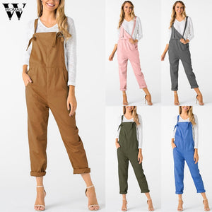 Womail bodysuit Women Summer Casual Loose Dungarees Loose Long Pockets Rompers Jumpsuit Trousers fashion2019 dropship M1