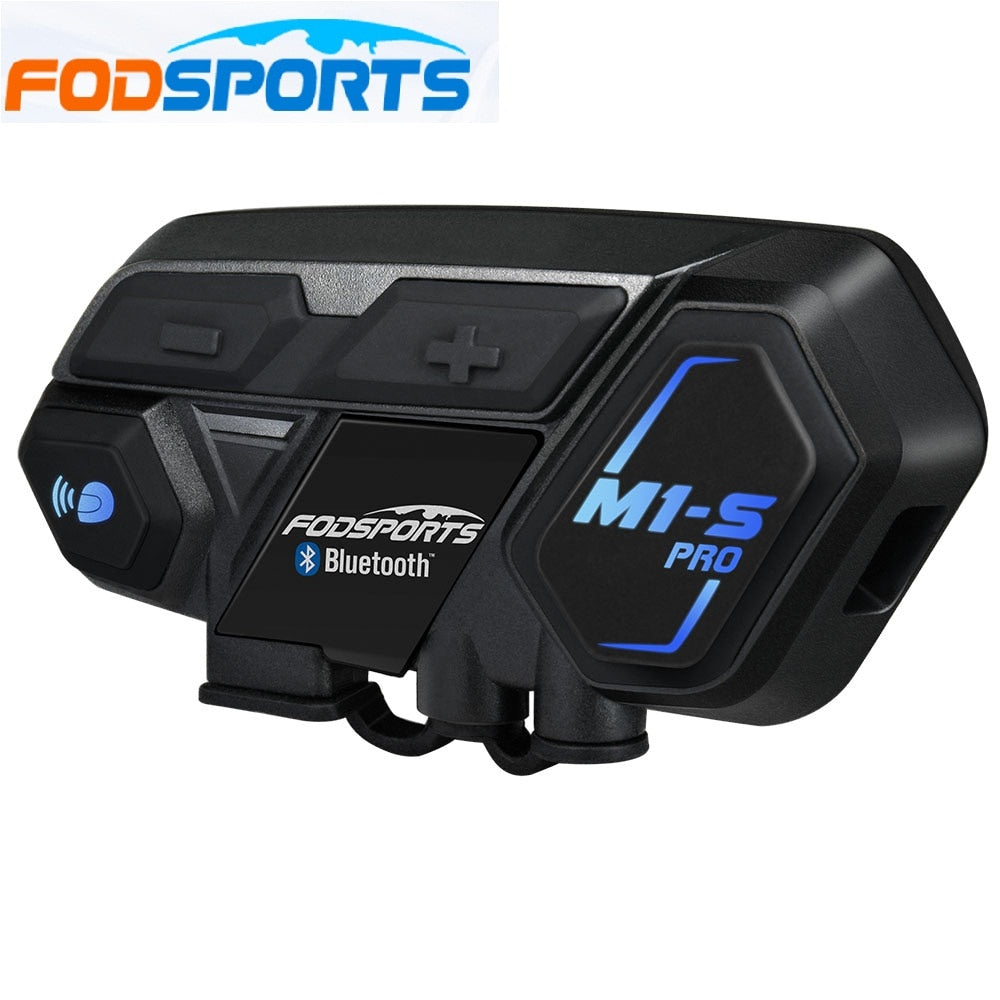 Fodsports M1-S Pro Helmet intercom Headset Motorcycle Waterproof Intercom Bluetooth interphone 8 Rider 1200M Intercomunicador