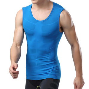 Men Compression Base Layer Tight Shirt Vest Thermal Under Tops