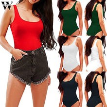 Load image into Gallery viewer, Womail bodysuit Women Summer Sexy Sleeveless Halter Tights Jumpsuits Casual fashion High Quality Short Jumpsuit 2019 A18