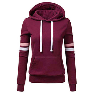 Hoodies Sweatshirt Women Harajuku Streetwear Striped Hoodie 2018 Autumn Women Fashion Clothes Kawaii Korean Clothing