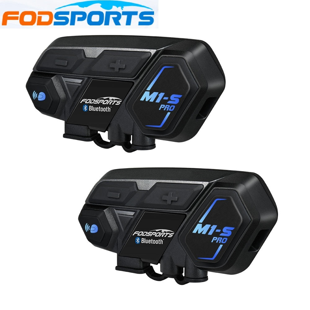 Fodsports 2 pcs M1-S Pro motorcycle helmet intercom bluetooth headset 8 rider 2000M intercom waterproof  Interphone