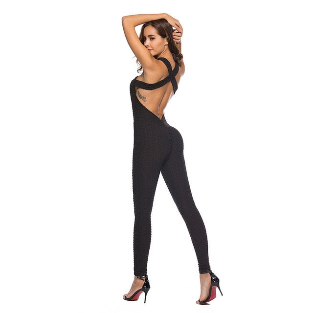 Womail bodysuit Women Summer Casual One-piece Sport Jumpsuit Running Fitness Workout Gym Tight Playsuit 2019 dropship M1