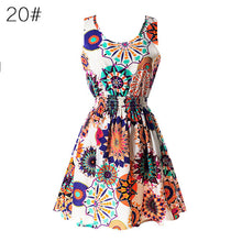 Load image into Gallery viewer, Fashion Women Sexy Chiffon Beach Dress Sleeveless Summer Sundress Floral Tank Dresses 20 Colors