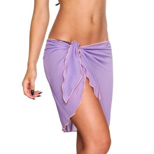 Load image into Gallery viewer, Sexy Women Beach Dress Bikini Cover Up Solid pareo beach Wrap Skirt Sarong Scarf beach wear Bathing Suit Beachwear Swimsuit
