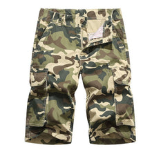 Load image into Gallery viewer, SHUJIN Summer Mens Shorts Cotton Camouflage Camo Shorts Males Casual Military Pockets Army Tactical Short Workout Clothing Mens