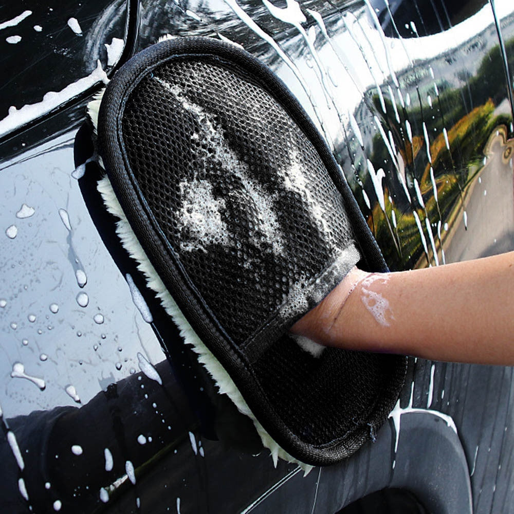 Car Wash Clean Sponge Brush Glass Cleaner Blue Wave Car Wash Washer Care Cleaning Tool Car Styling For Dropshipping