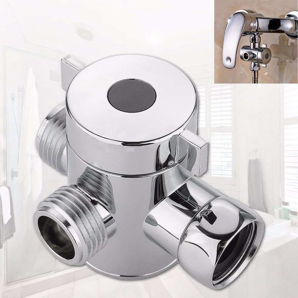 1/2 Inch Bathroom Three Way T Adapter Tee Connector Valve For Toilet Bidet Shower Head Diverter Valve Shower Head Shunt